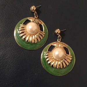 """Vintage beautiful earrings 1:5"""" w"""